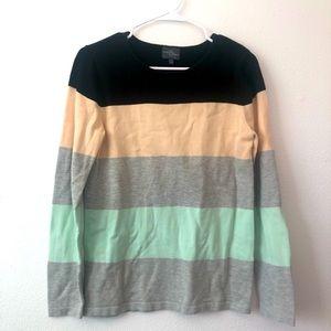 Market & Spruce Color Block Sweater